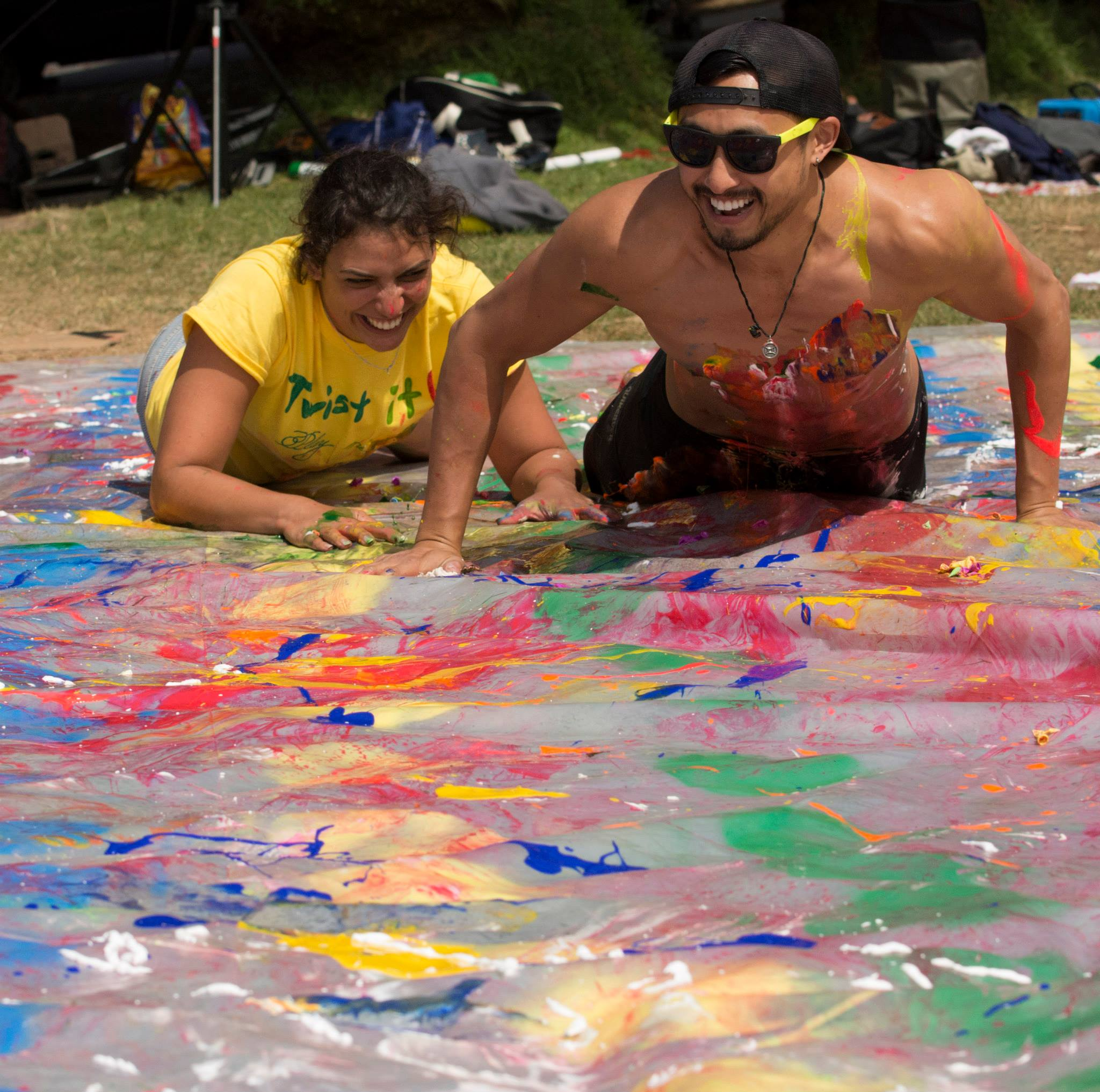 Creating Massive Messy Twister at Dolores Park